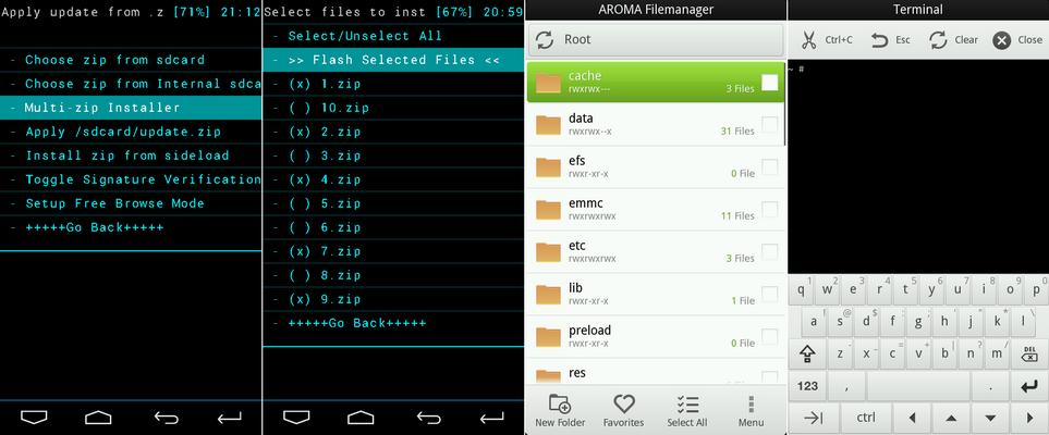 مرجع ریکاوری منوهای Galaxy Note